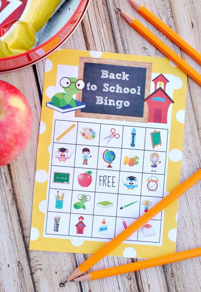 Free Printable Back to School Bingo Game | Crazy Little Projects