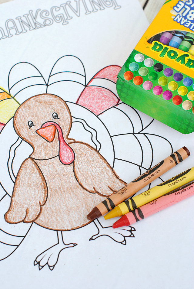 Free Thanksgiving Coloring Pages Crazy Little Projects