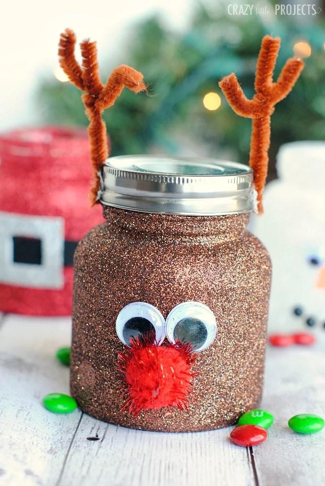 christmas treat jars cute