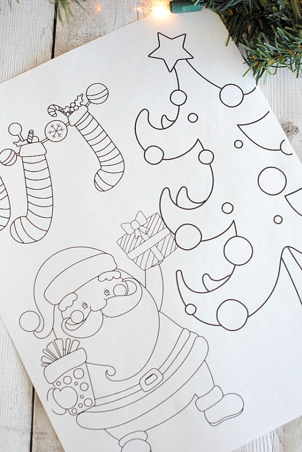 printable holiday coloring pages # 22