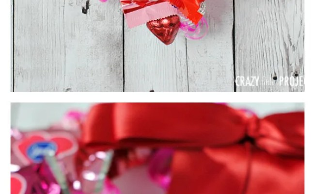 Valentine S Candy Wreath Crazy Little Projects