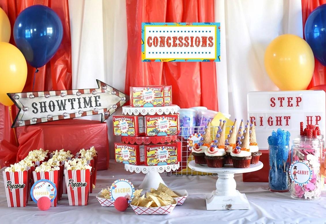 throw an amazing circus theme party