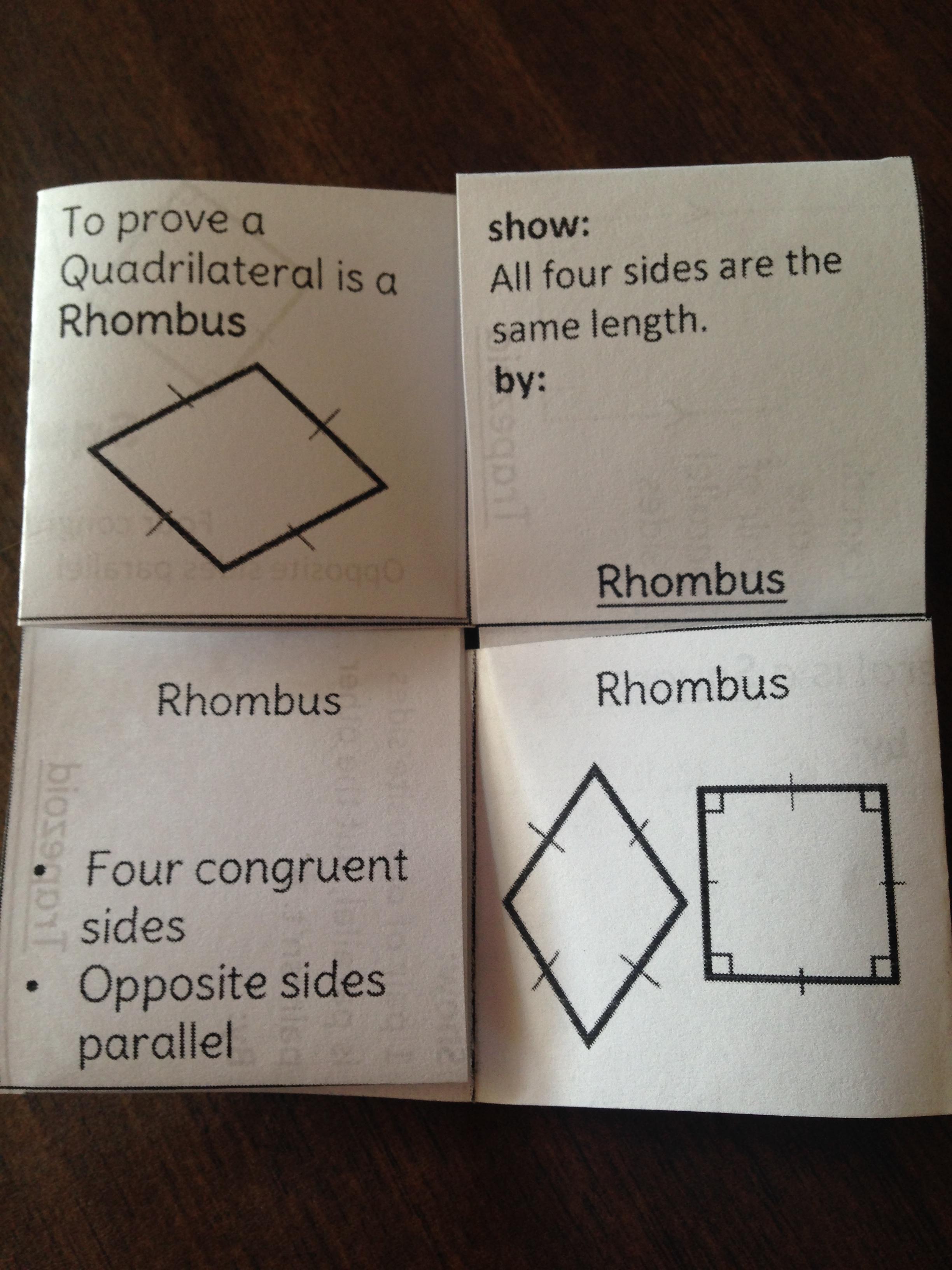 Coordinate Quadrilateral Proof Tetraflexagon