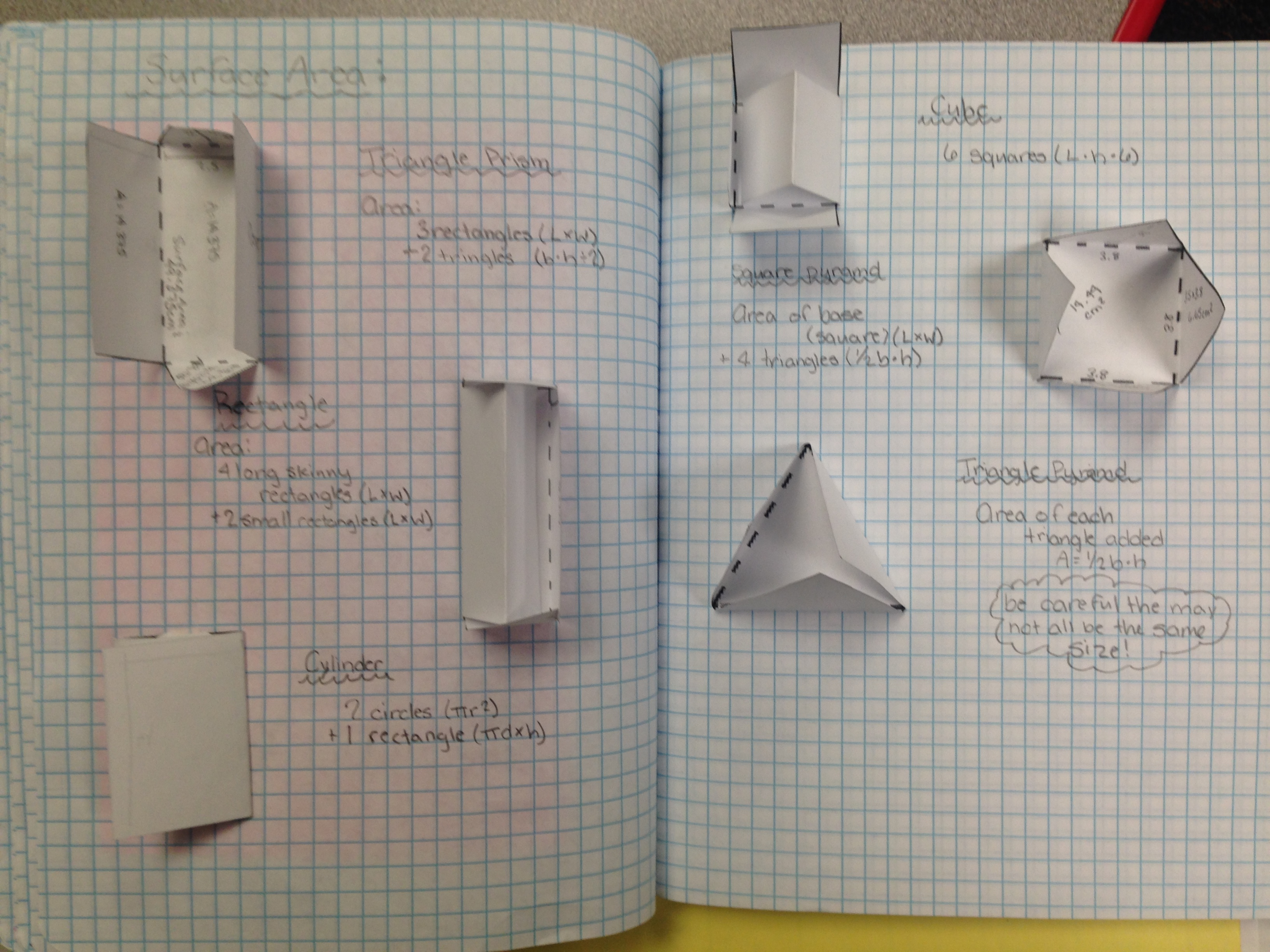 Surface Area Interactive Notes