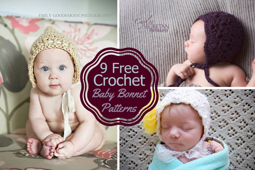 Free Crochet Baby Bonnet Patterns Crazy Q Crafts