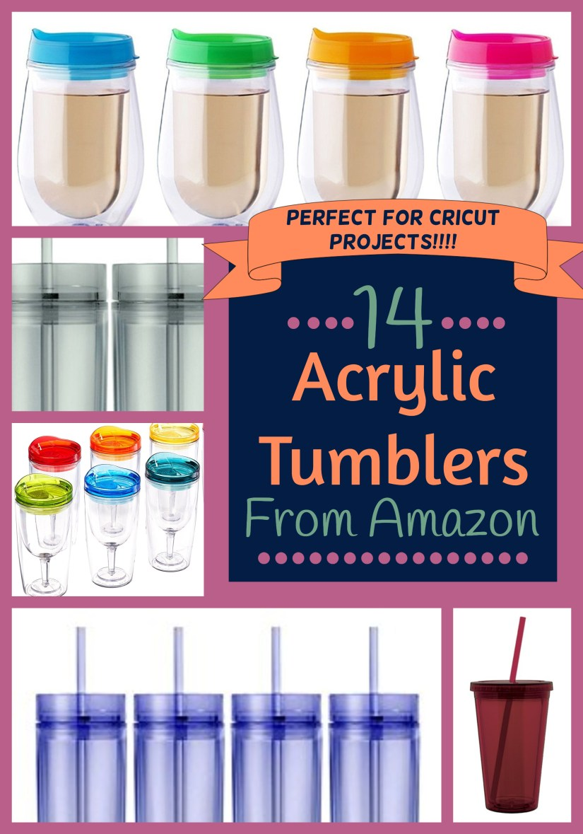 14 Acrylic Tumblers On Amazon Crafting Blanks Crazy Q
