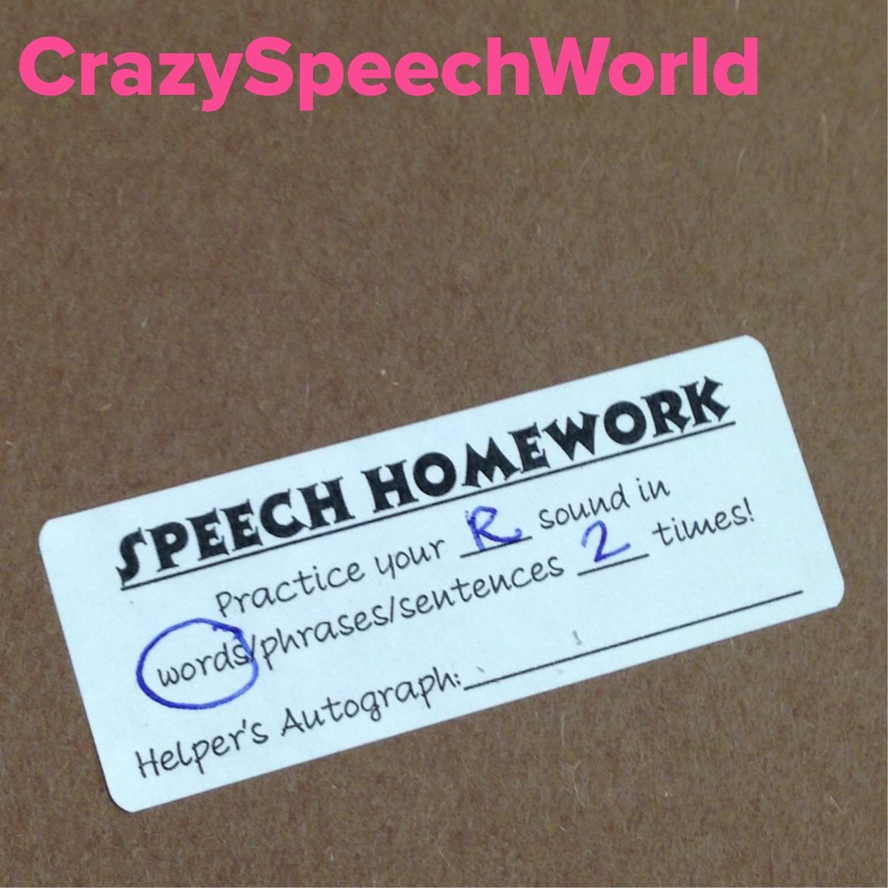 Homework Labels Freebie