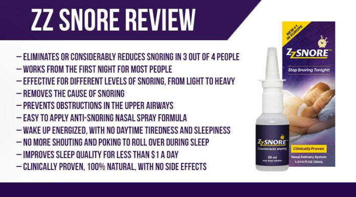ZZ Snore Spray Review