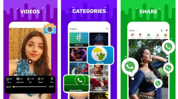 Sharechat, Best WhatsApp status Download Apps