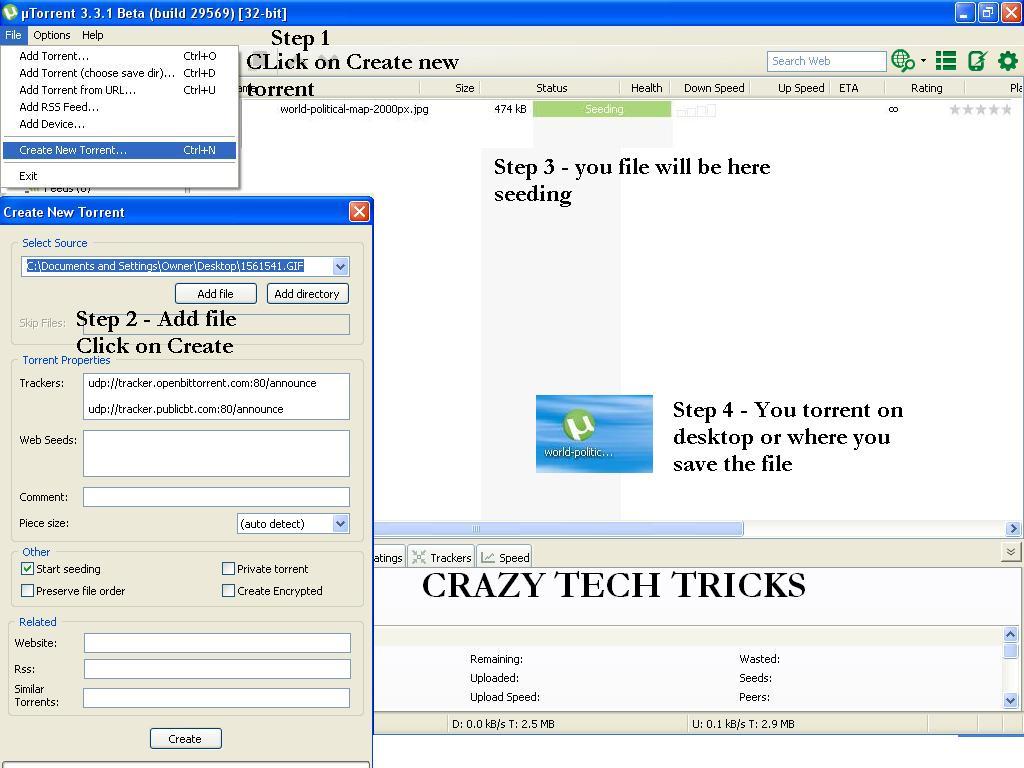 Create a Torrent file