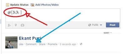 post blank status facebook