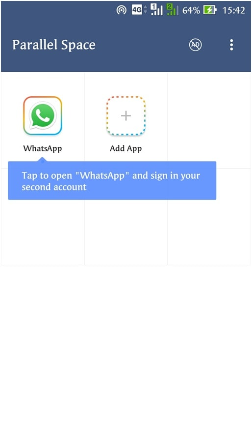 redirected to a parallel space where WhatsApp is running in a virtual space on your device - How to Use 2 WhatsApp in Dual SIM Phone - Updated 2018