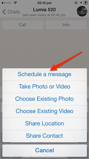 How to Schedule WhatsApp Messages on iPhone