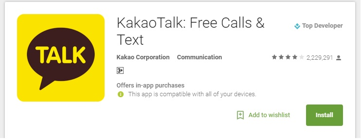 Kakao Talk Android App to make Free Calls - National or International Free Voice Calling
