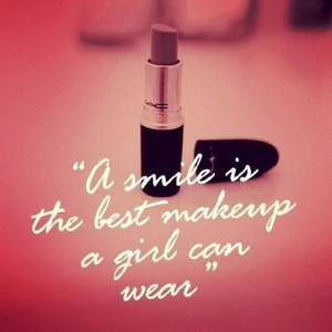 a smile is a best makeup a girl ca wear- smile