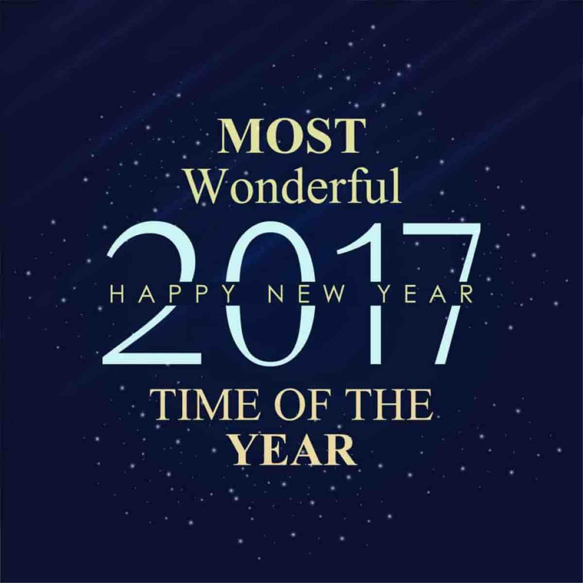 Happy New Year 2017 most wonderful time of the year