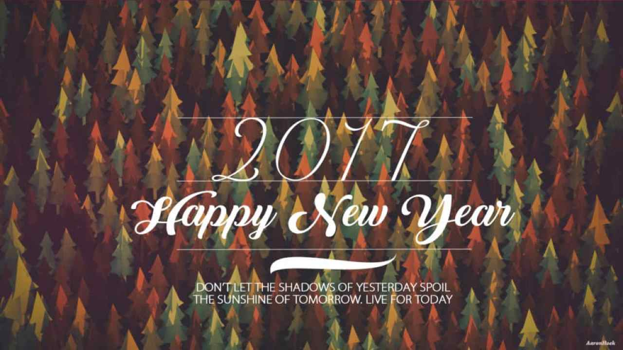 Happy New Year 2017 with a good quote