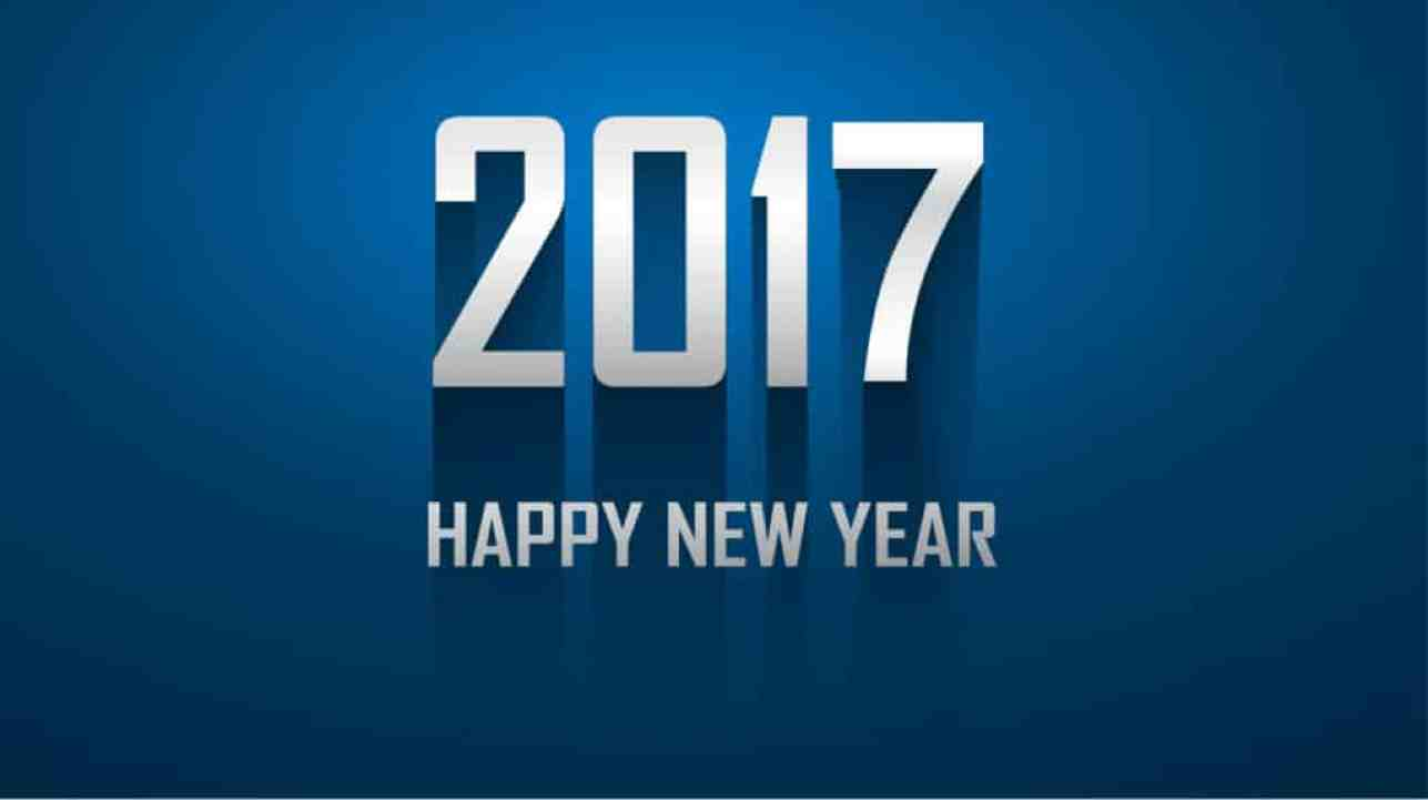 Happy New Year 2017 with dark blue background