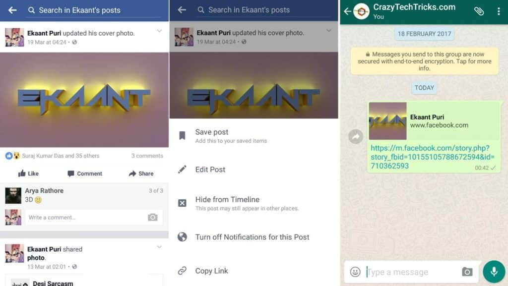 How To Send Video-Post From Facebook To WhatsApp on Android SmartPhone