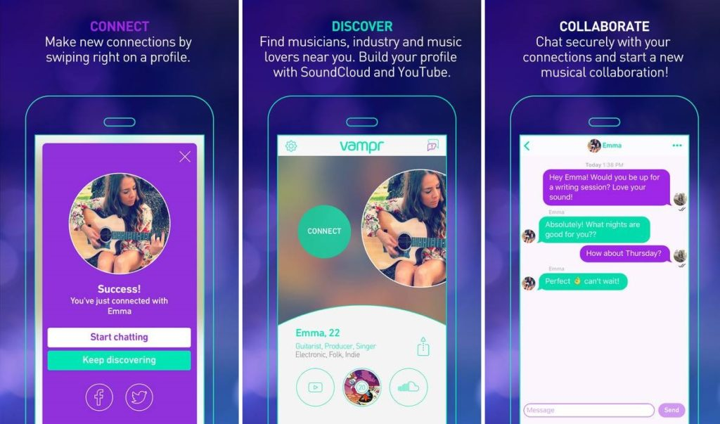 Vampr An App for All Musicians and Music Lovers to Reach out to the Industry