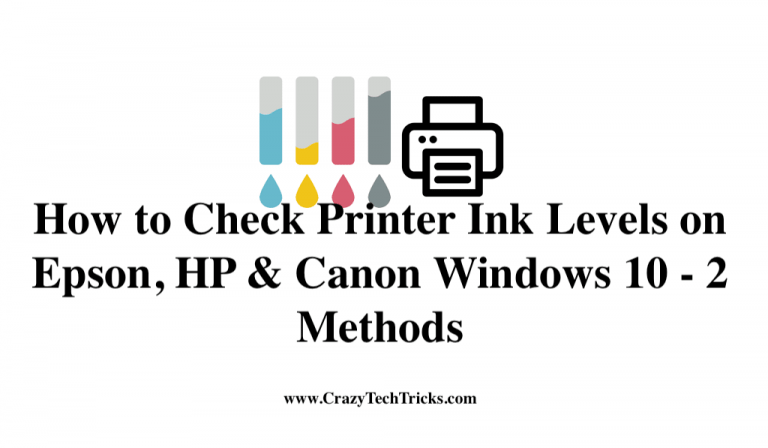 How to Check Printer Ink Levels on Epson, HP & Canon