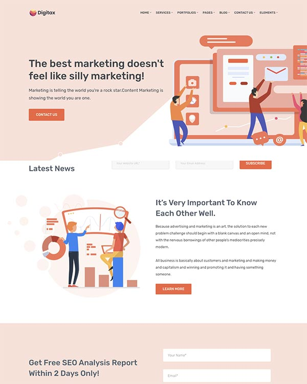digitax agency theme
