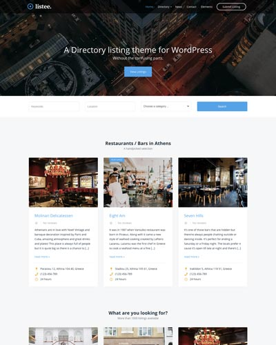 listee directory theme for wordpress