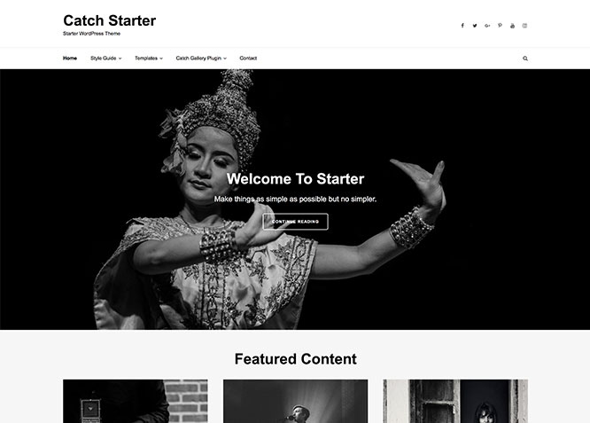 catch starter theme framework