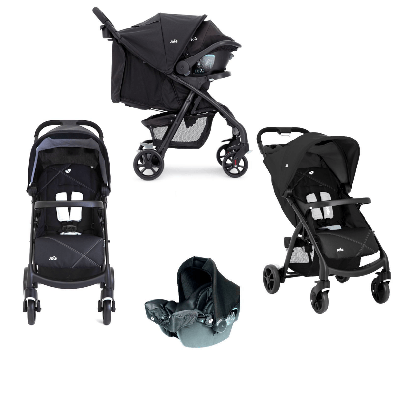 Joie Muze Travel System (Inc. Juva 0+ Car Seat) - Universal Black