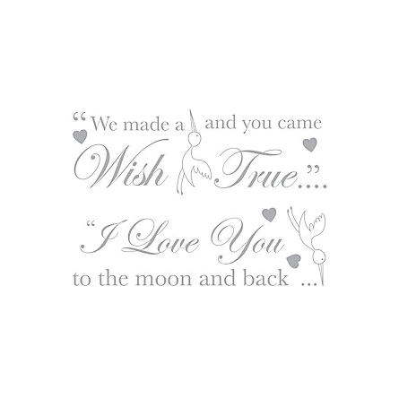 Little Wish Wall Stickers - Grey