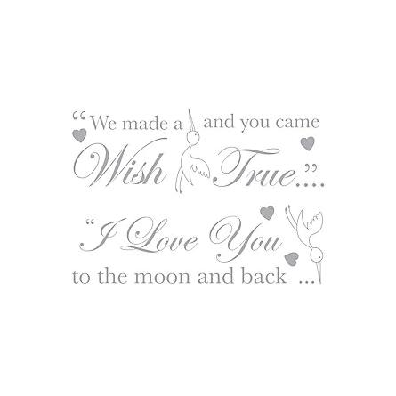 Little Wish Wall Stickers - Grey