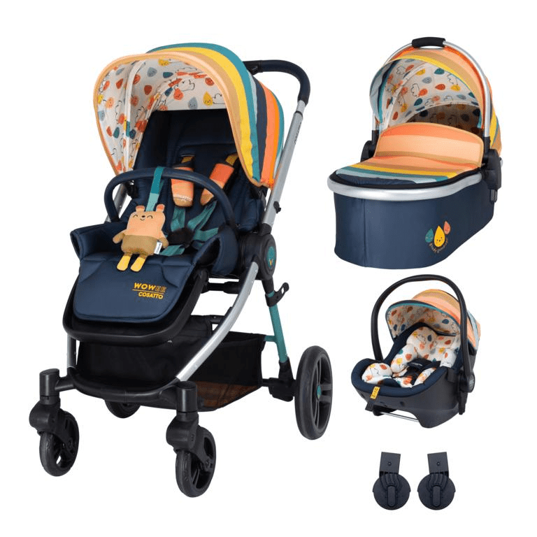 Cosatto Wowee Premium Travel System Bundle (Incl. RAC i-Size 0+ Car Seat) - Goody Gumdrops
