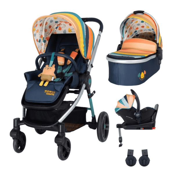 Cosatto Wowee i-Size Travel System Bundle (Incl. i-Size 0+ Car Seat & Base) - Goody Gumdrops
