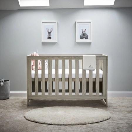Obaby Nika Cot Bed- Grey Wash