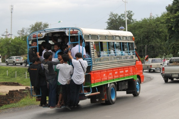 A bus in Ayutthaya