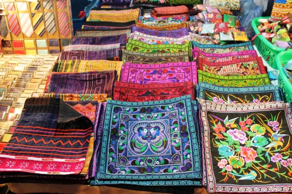 Lovely pillowcases in Chiang Mai!