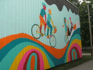 photo of mural outside the bike shop