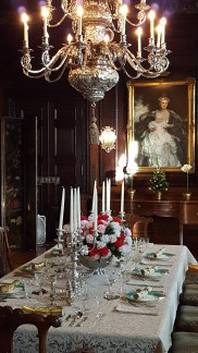 Beautiful table and Sargent in the background (Old Westbury Gardens)