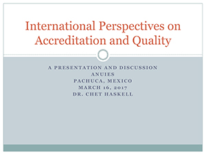 International Perspectives on Quality and Accreditation