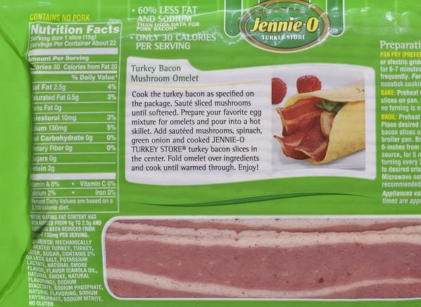 Jennie-O Turkey Bacon Bacon - Consumer Reports