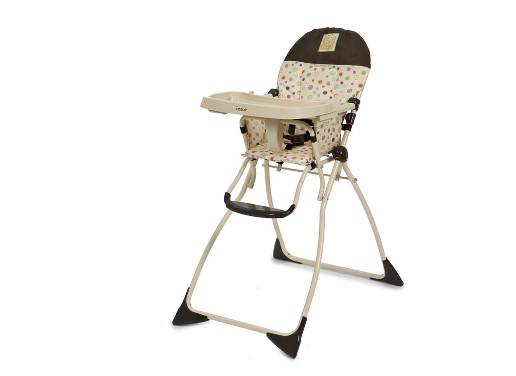 high chair that folds flat swivel cuddle cosco fold consumer reports