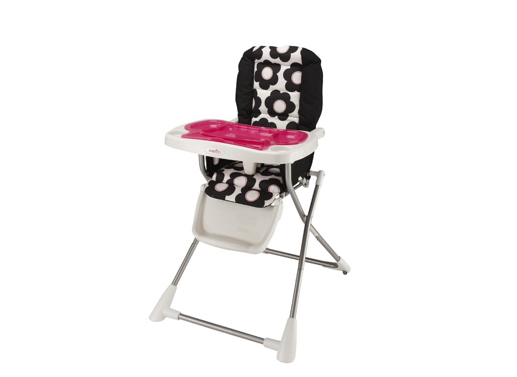 compact high chair steel bench evenflo fold prices consumer reports
