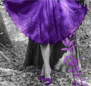 Amethyst Purple Skirt Gypsy Full Swirl Dance Flirty Romance Beaded Handmade OOAK