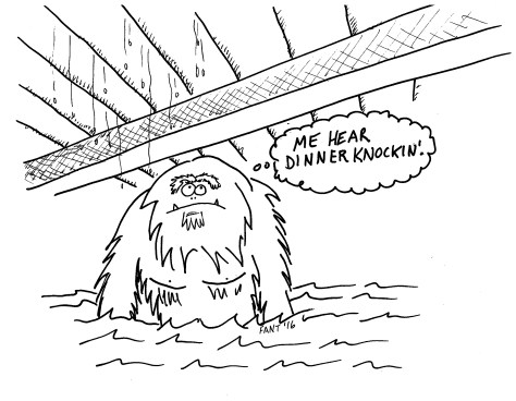 Bridge Troll Fantasy Cartoon Comic Monster