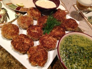 Blazing Crab Cakes with Tartar Sauce