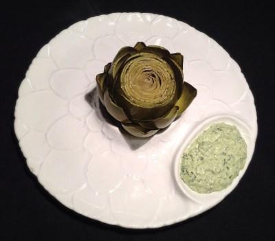 Artichoke with Green Goddess