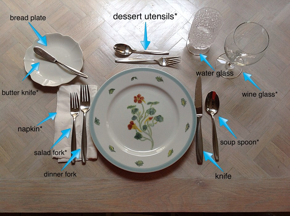 Place settings - adult