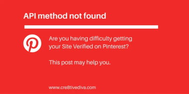 "Pinterest: ""API method not found"" [Updated]"