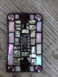 Pink and Purple Mosaic Tile Lightswitch Cover After
