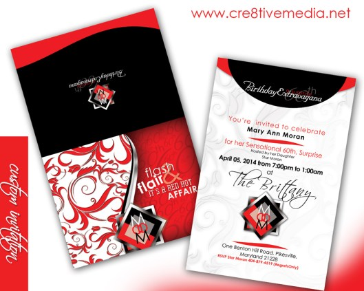 Custom Tent Fold Invitation